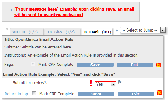 CRF Email Action