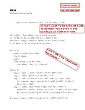 Fake Government NASA Doc
