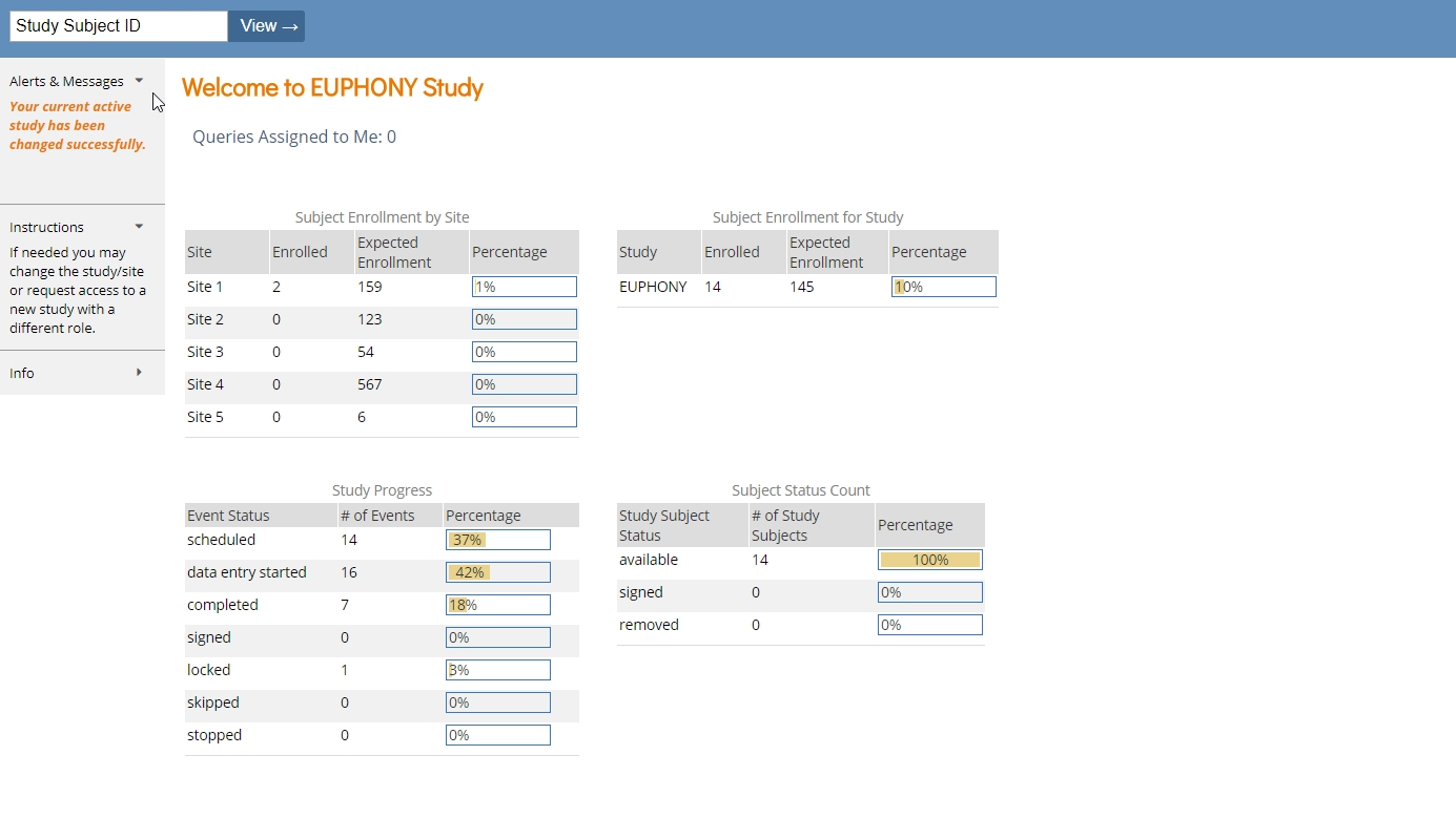 OpenClinica Case Report Form