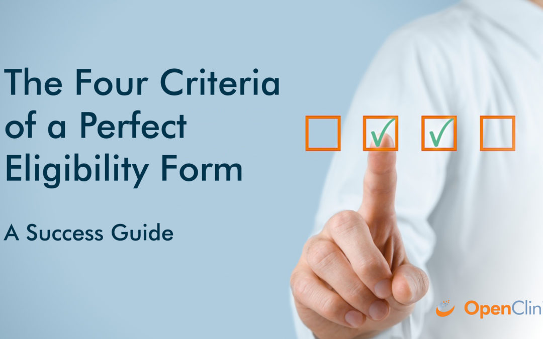 The Four Criteria of a Perfect Eligibility Form: A Success Guide
