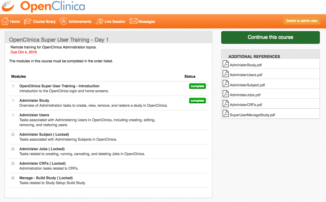 OpenClinica Online Training